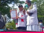 Aksi Bela Palestina di Poso, Massa Serahkan Lima Tuntutan Kepada Pemda