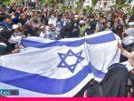 Solidaritas Terhadap Palestina, Umat Muslim Sulteng Bakar Bendera Zionis Israel