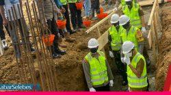 Peletakan Batu Pertama Polres Morowali