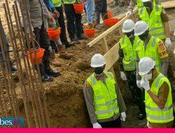 Peletakan Batu Pertama Mapolres Morowali, Wakapolda: Harus Selesai Tepat Waktu
