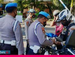 22 Polisi di Palu Terjaring Razia SIM dan STNK