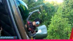 Video : Helikopter TNI Kesulitan Evakuasi Jenazah 2 Teroris di Hutan Parimo