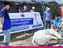 DPW Nasdem Sulteng Salurkan Daging Kurban Door to Door