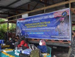 TNI AL Palu Laksanakan Program Serbuan Vaksin Bagi Warga Poso