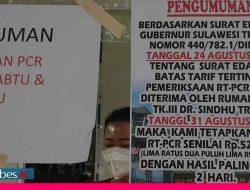 RS Sindhu Trisno Palu Terapkan Tarif PCR Rp525 Ribu per Orang