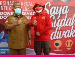 Disapa Pertama Presiden, Vaksinasi Bersama Secara Daring di Gorontalo Capai 2.442 orang